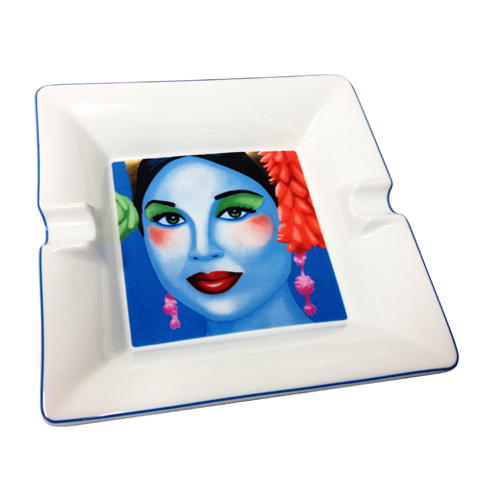 Christian Develter Aspara Blue Ashtray