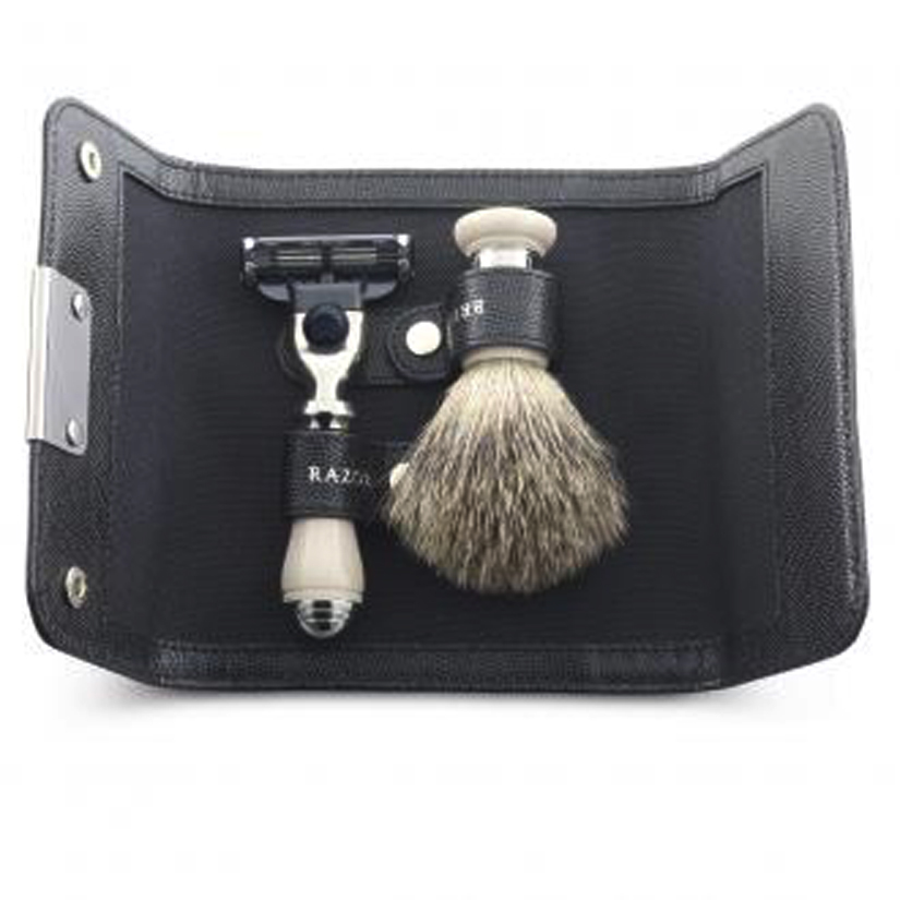 Dalvey 771 Travel Shaving Set Ivory