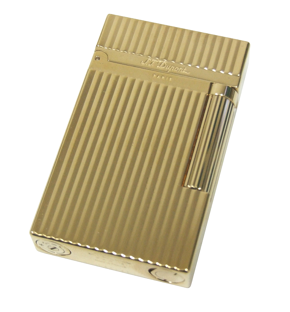 S.T. Dupont 16827 L2 Gold Plated Vetical  Lighter