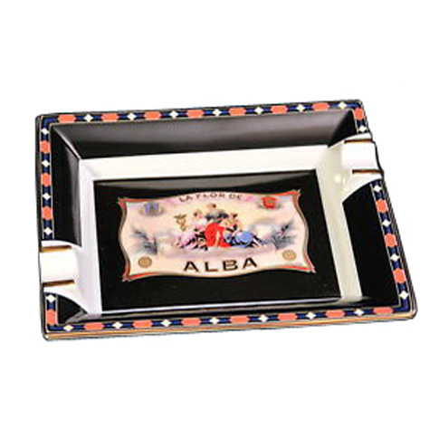 Elie Bleu Alba Black Porcelain Ashtray