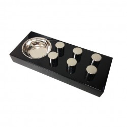 "Elie Bleu ""Fruit"" Egoist Black Ashtray"
