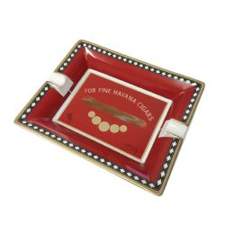 Elie Bleu Medals Red Porcelain Ashtray