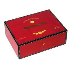 Elie Bleu Medals Red Sycamore Humidor 75 ct