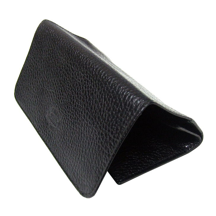Savinelli 260 Roll Up Tobacco Pouch Black Lea