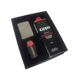 Zippo 250 High Polish Chrome Lighter Gift Set