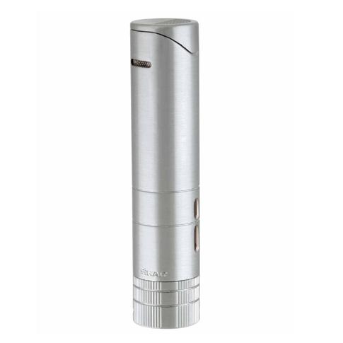 XiKAR 564SL Silver Turrim Dual Flame Table Lighter