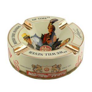 Arturo Fuente Decorated Ceramic Cream Ashtray