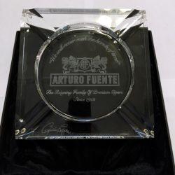 Arturo Fuente Etched Crystal Ashtray