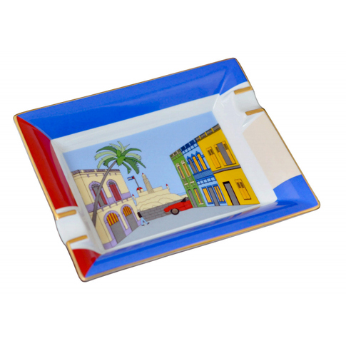 "Elie Bleu ""Casa Cubana"" Porcelain Ashtray"