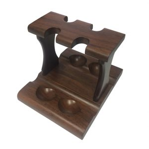 Jemar 4/DL Walnut Pipe Stand