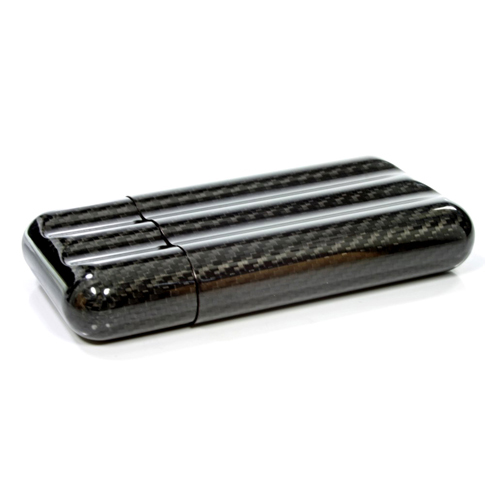 KOPP MA ZE 3 Carbon Black Cigar Case 3s