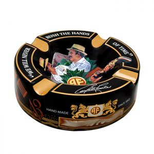 Arturo Fuente Decorated Black Ashtray