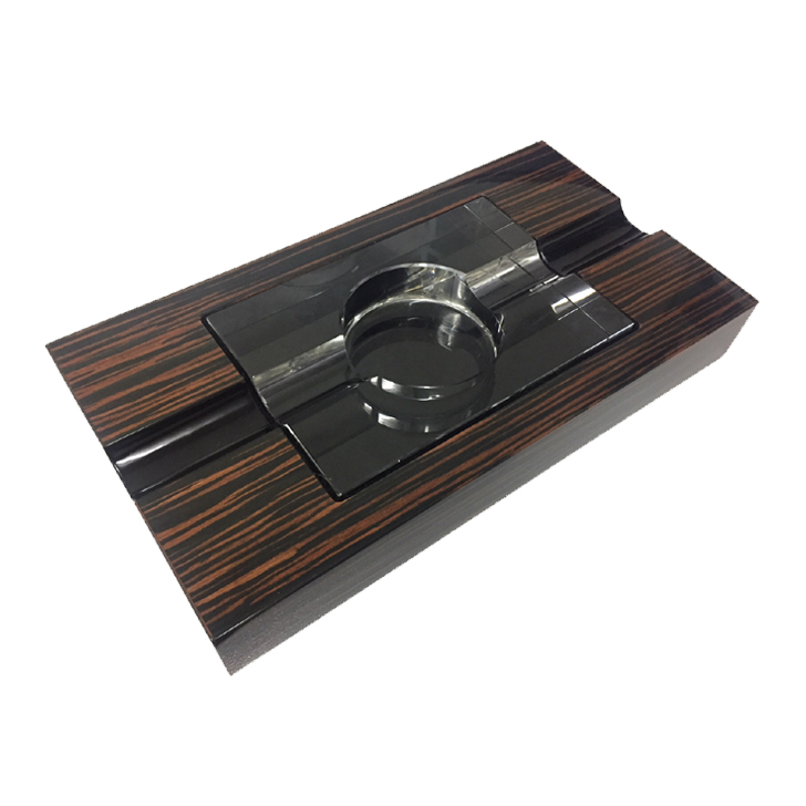 Cigarman's Ebony Cigar Ashtray 2s