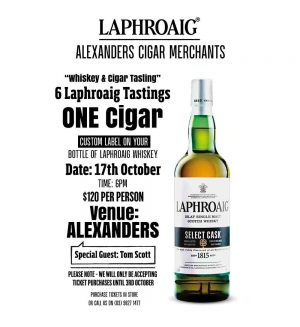 Alexanders Laphroaig Whisky & Cigar Night