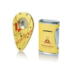 Coiba Montecristo Lighter / Cutter Set
