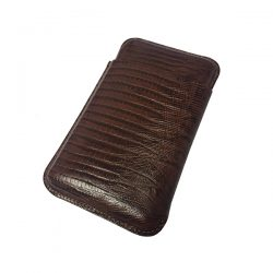 Martin Wess 503-11 Lizard Brown Demi Tasse Case