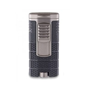Xikar 553BKGM Tactical Triple-Jet Flame Lighter (Black / Gunmetal)