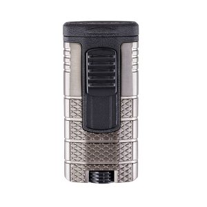 Xikar 553GMBK Tactical Triple-Jet Flame Lighter (Gunmetal / Black)
