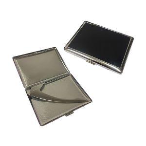 Pearl 04903-10 Silver / Black Cigarette Case