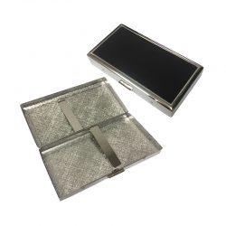 Pearl 24903-10 Silver / Black Cigarette Case