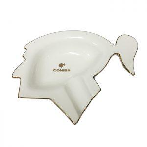 Coiba Cohiba Indio Blanco Porcelain Ashtray
