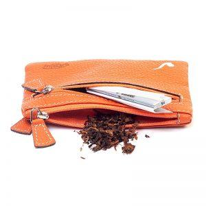 Savinelli T665 Cigarette Tobacco Pouch Arancio